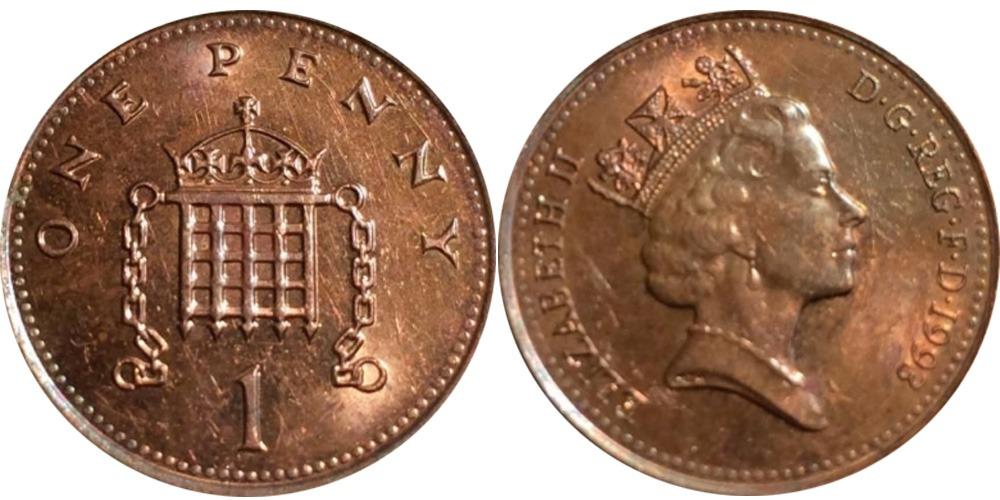1 новый пенни 1993 Великобритания