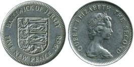5 новых пенсов 1968 остров Джерси