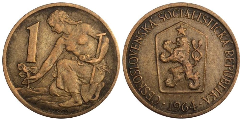 1 крона 1964 Чехословакии