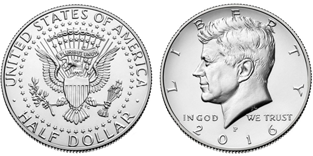 50 центов 2016 P США UNC