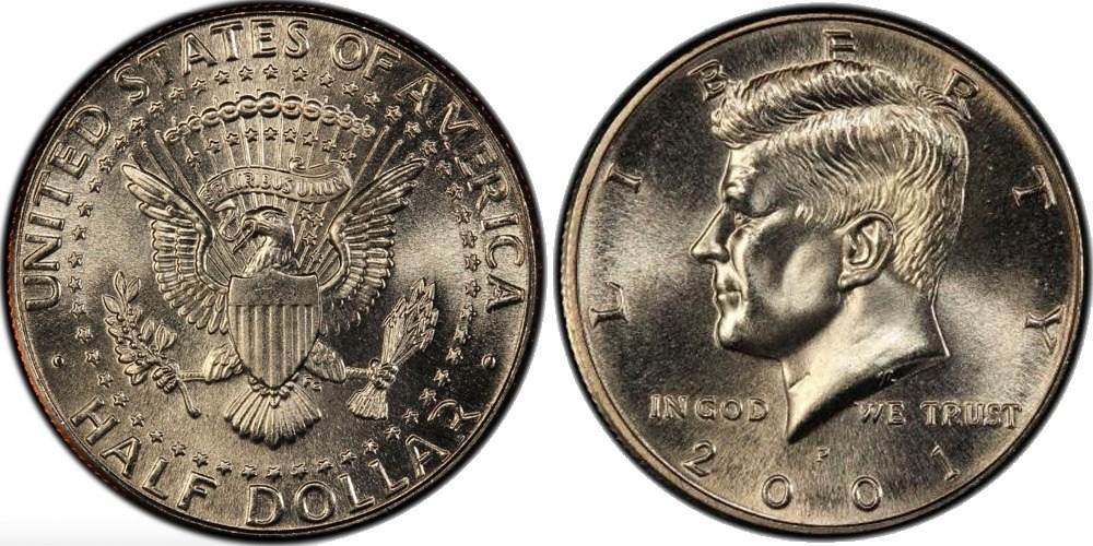 50 центов 2001 P США UNC