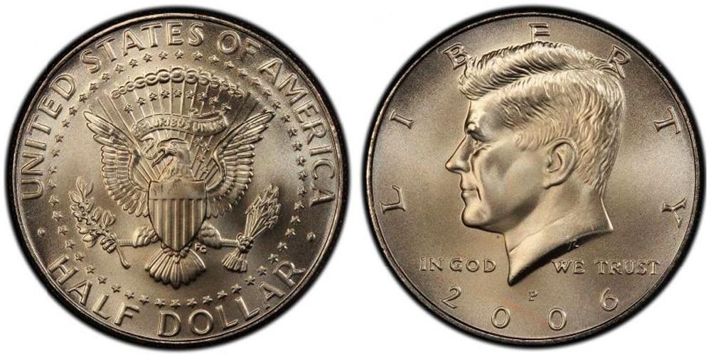 50 центов 2006 P США UNC