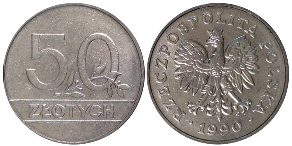 50 злотых 1990 Польша