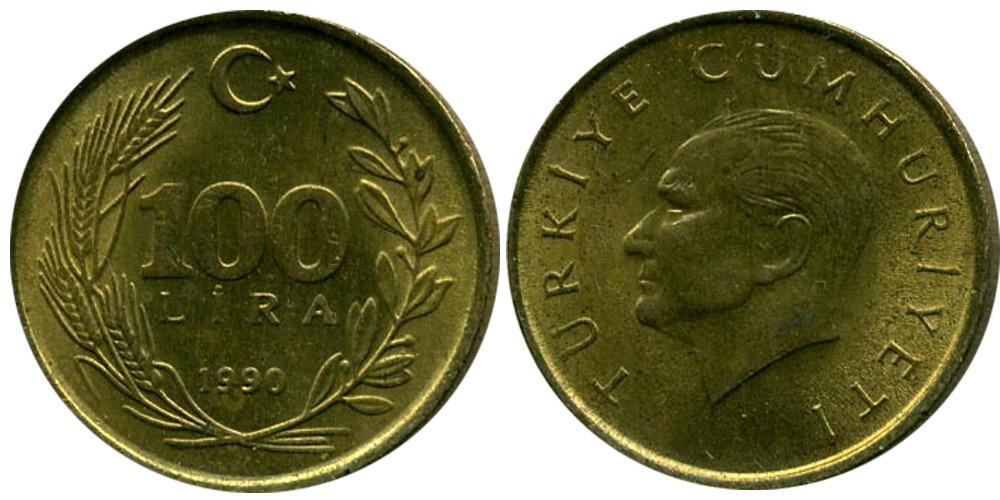 500 лир 1990 Турция