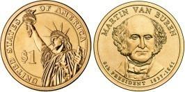 1 доллар 2008 P США UNC — Президент США — Мартин Ван Бюрен (1837-1841) №8