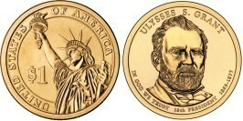 1 доллар 2011 D США — Президент США — Улисс Грант (1869-1877) №18