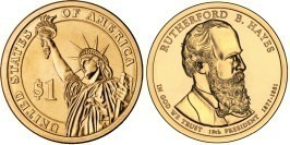 1 доллар 2011 P США — Президент США — Ратерфорд Хейз (1877-1881) №19
