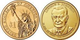 1 доллар 2015 P США UNC — Президент США — Линдон Джонсон (1963–1969) №36