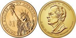 1 доллар 2016 D США UNC — Президент США — Ричард Никсон (1969–1974) №37