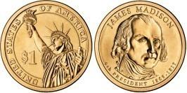 1 доллар 2007 D США UNC — Президент США — Джеймс Мэдисон (1809-1817) №4