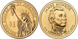 1 доллар 2008 D США UNC — Президент США — Джеймс Монро (1817-1825) №5
