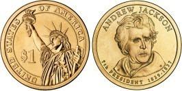 1 доллар 2008 D США aUNC — Президент США — Эндрю Джексон (1829-1837) №7