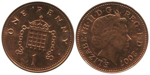1 пенни 2007 Великобритания