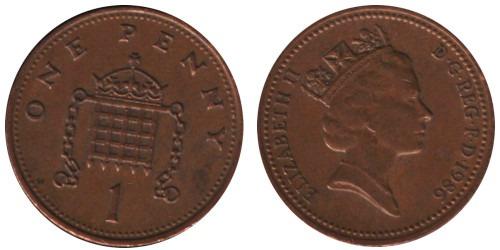 1 пенни 1986 Великобритания