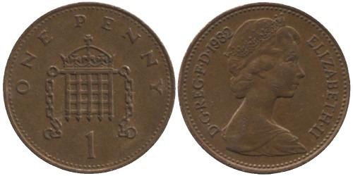 1 пенни 1982 Великобритания