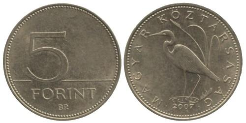5 форинтов 2007 Венгрия