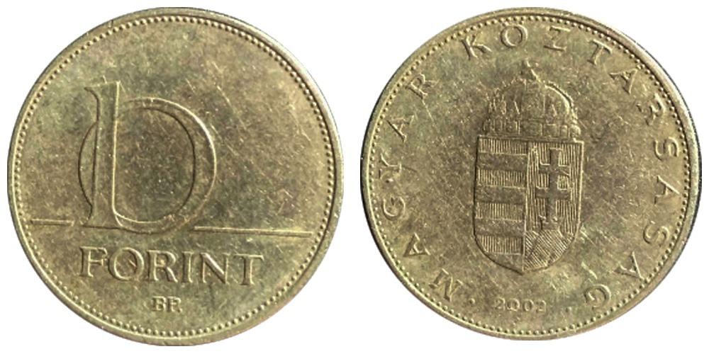 10 форинт 2002 Венгрия