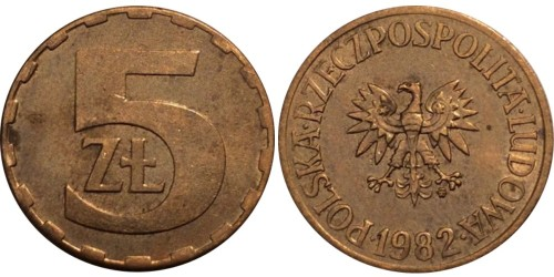 5 злотых 1982 Польша