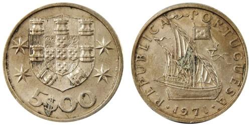 5 эскудо 1971 Португалия