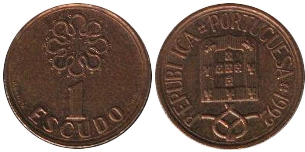 1 эскудо 1992 Португалия