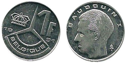 1 франк 1991 Бельгия (FR)