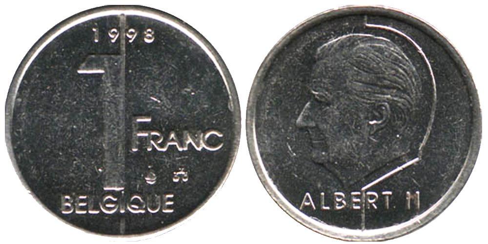 1 франк 1998 Бельгия (FR)