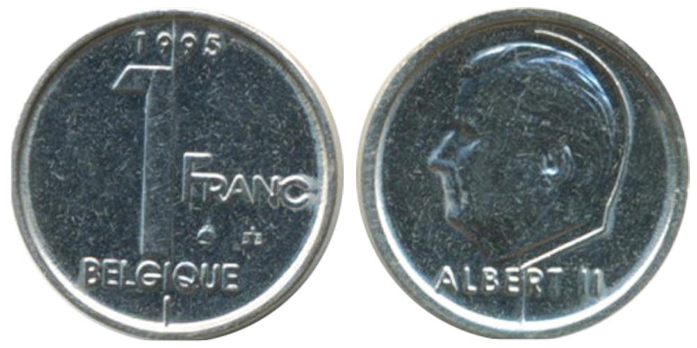 1 франк 1995 Бельгия (FR)