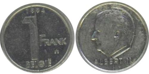 1 франк 1994 Бельгия (VL)