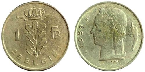 1 франк 1953 Бельгия (VL)
