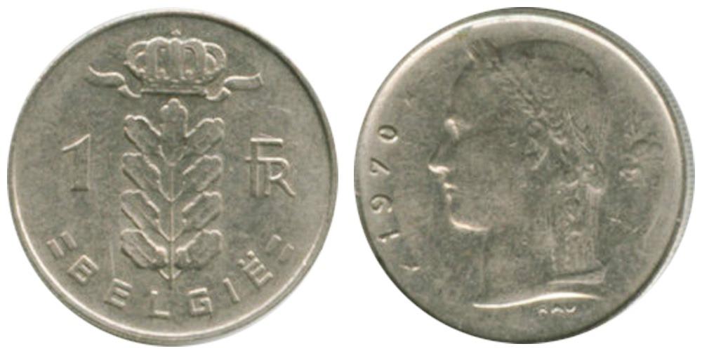 1 франк 1970 Бельгия (VL)