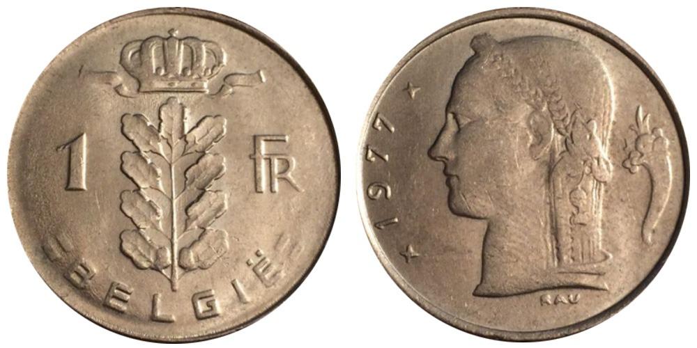 1 франк 1977 Бельгия (VL)