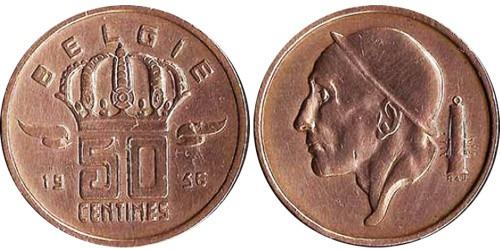 50 сантимов 1956 Бельгия (VL)