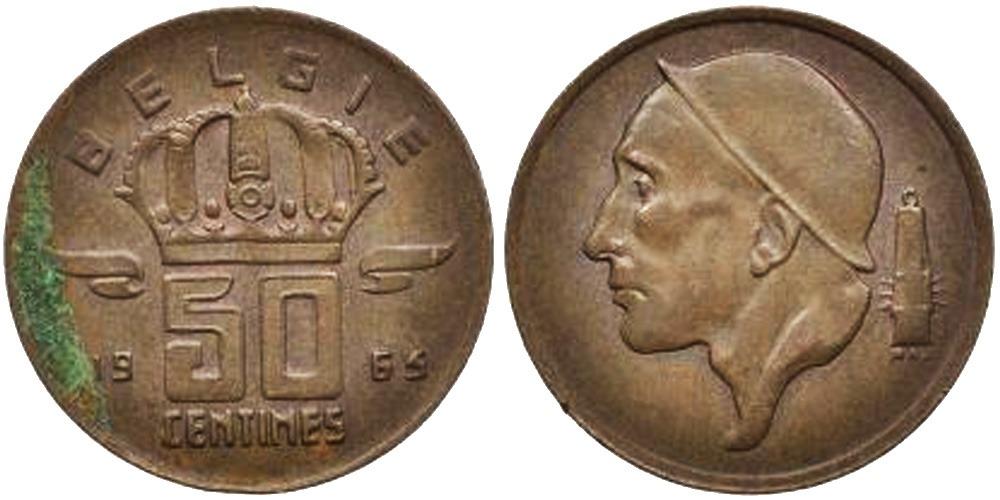 50 сантимов 1965 Бельгия (VL)