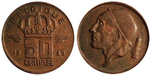 50 сантимов 1959 Бельгия (FR)