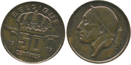 50 сантимов 1979 Бельгия (FR)