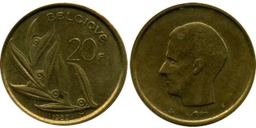 20 франков 1982 Бельгия (FR)
