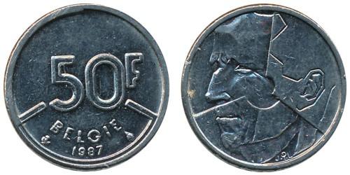 50 франков 1987 Бельгия (VL)