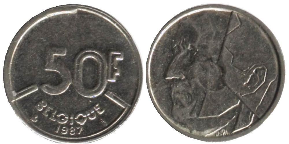 50 франков 1987 Бельгия (FR)