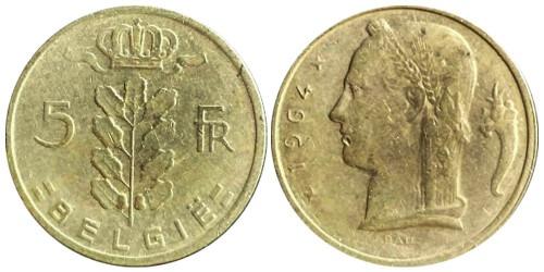 5 франков 1964 Бельгия (VL)