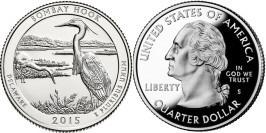 25 центов 2015 S США — Национальное убежище дикой природы Бомбай-Хук (Делавэр) UNC