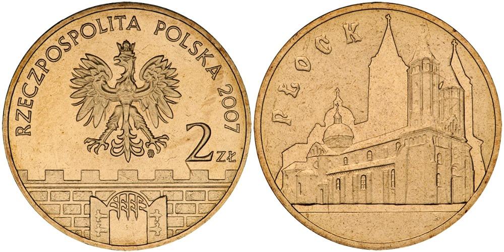 2 злотых 2007 Польша — Древние города Польши — Плоцк