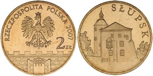 2 злотых 2007 Польша — Древние города Польши — Слупск