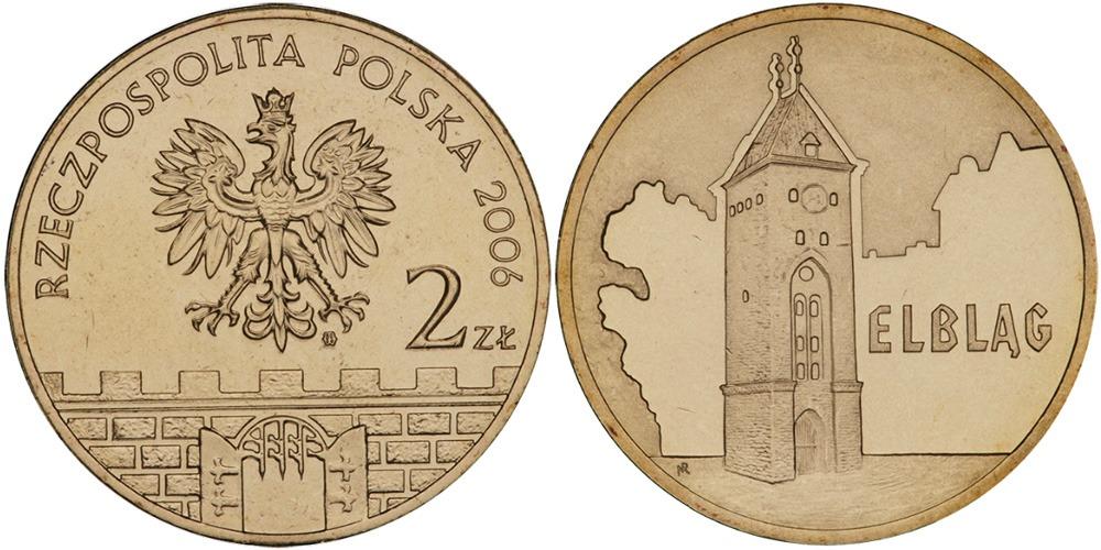 2 злотых 2006 Польша — Древние города Польши — Эльблонг