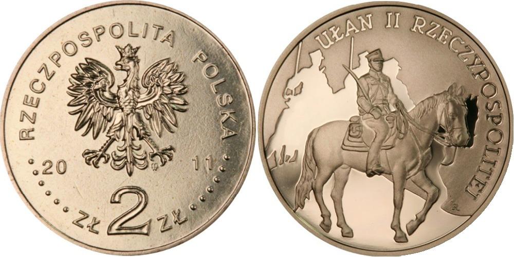 2 злотых 2011 Польша — История польской кавалерии — Улан 2ой Республики
