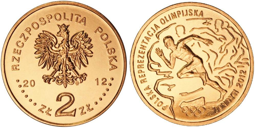 2 злотых 2012 Польша — XXX летние Олимпийские Игры, Лондон 2012