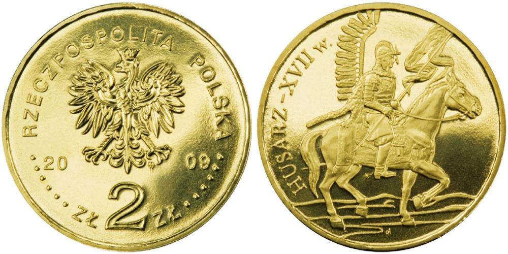 2 злотых 2009 Польша — История польской кавалерии — Гусар 17 века