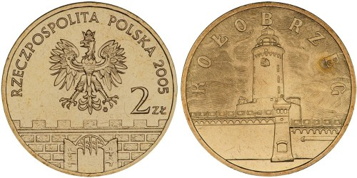 2 злотых 2005 Польша — Древние города Польши — Колобжег