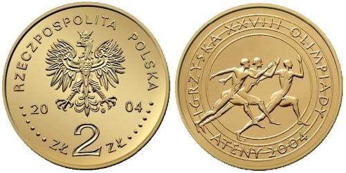2 злотых 2004 Польша — XXVIII летние Олимпийские Игры, Афины 2004