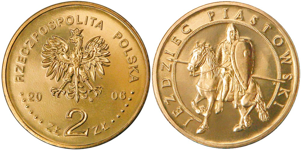 2 злотых 2006 Польша — История польской кавалерии — Всадник