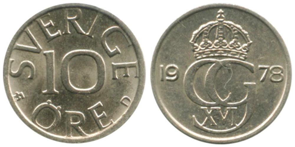 10 эре 1978 Швеция